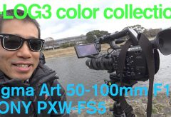 Ufer! VLOG 105 ソニーFS5&シグマ50-100でS-Log3撮影、そしてFCP Xでカラーグレーディング