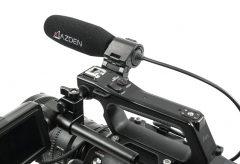 アツデン、XLRケーブル直付けで小型軽量のショックマウント付属ガンマイク、SGM-250CX