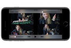 ローランド、4分割画面のミュージックビデオが作成可能なiOSアプリ・4XCAMERA をリリース