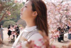 【Views】『Portrait Cinematic / 蝶良寿々 /【新宿御苑】』3分7秒~桜色に染まるイメージプロモーション