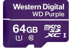 ウエスタンデジタル、24時間/365日録画を実現する監視カメラ向けSDカード「Western Digital Purple microSD」を発表