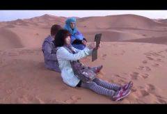 【Views】『サハラ砂漠』6分6秒~大パノラマの夜明け、らくだの編隊、ずっと続く足跡、どれをとっても絵になる砂漠の風景