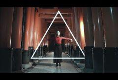 【Views】『Ambient; Kyotogirl』1分~神秘的なロケーションを背景にモーショングラフィック合成したダンシング動画