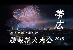 【Views】『夜景と共に楽しむ「勝毎花火大会2018」』2分27秒~クローズアップは幻想的に、ロングは夜景とともに体感的にと2つの構図の対比で見せる