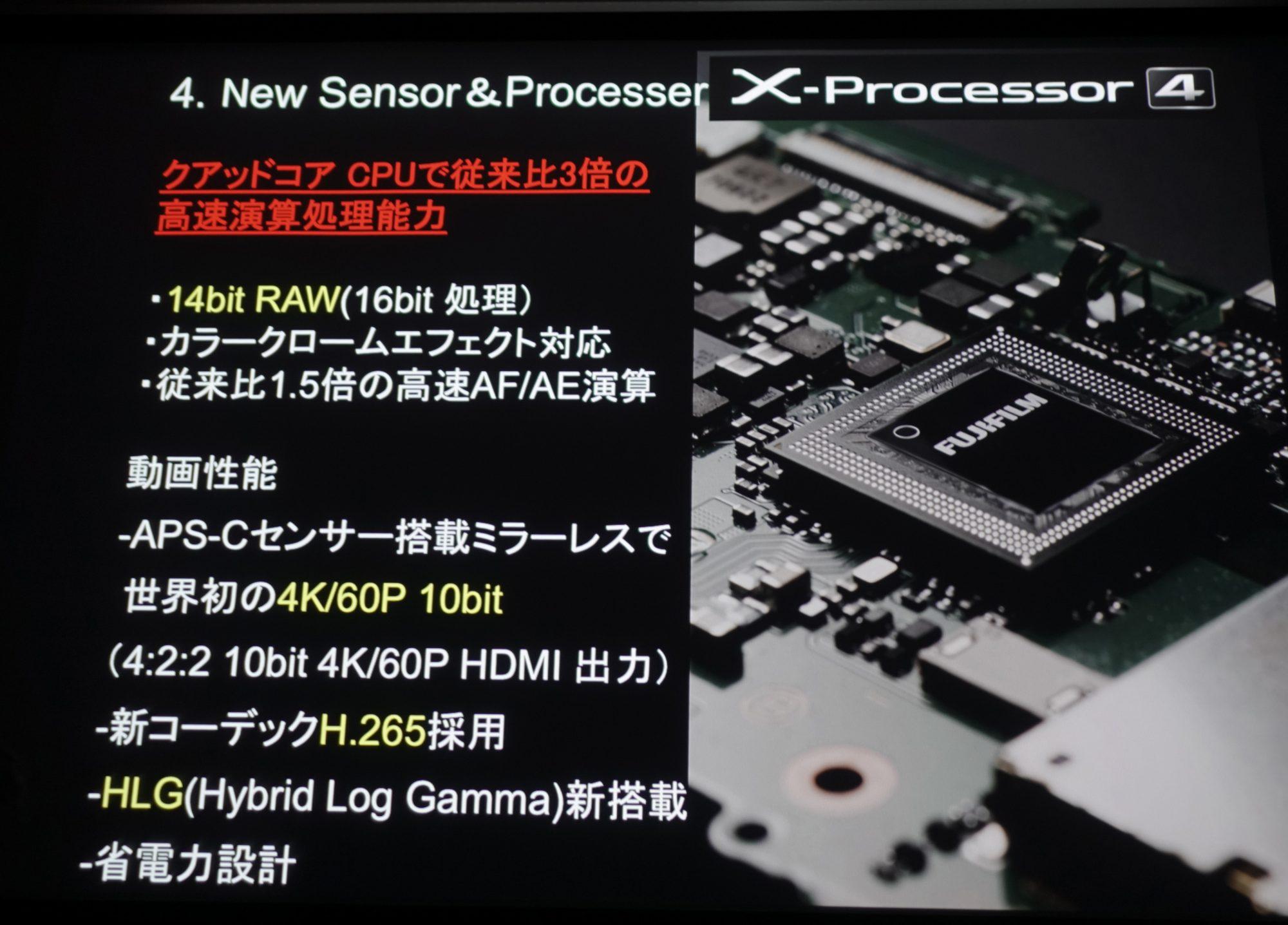 富士フイルム、4K/60p 4:2:0 10bit記録、H 265/HEVC、ALL-Intraに対応