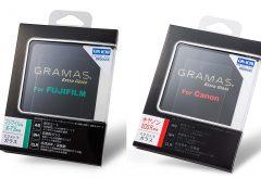 銀一、GRAMASの液晶保護ガラス「CANON EOS R 用」「FUJIFILM X-T3 用」を発売