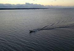 【Views】『出勤』2分28秒~ロケーションは茨城県霞ヶ浦。一艘の小さな漁船が出漁していく様子をドローンが丹念に追っていく