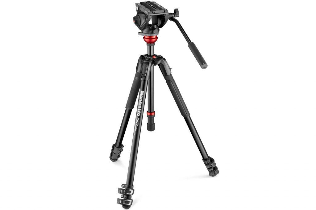 ヴァイテックイメージング、マンフロットのビデオ雲台MVH500AH+ レベリング付アルミ三脚を発売