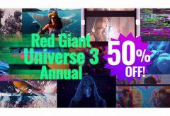 フラッシュバックジャパン、プラグイン集『Red Giant Universe 3 Annual 』が5月31日13時まで50% オフ!