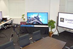シャープ「8K Labクリエイティブスタジオ」を東京にオープン。 「8K+5Gエコシステム」をテーマとする専用の商談室