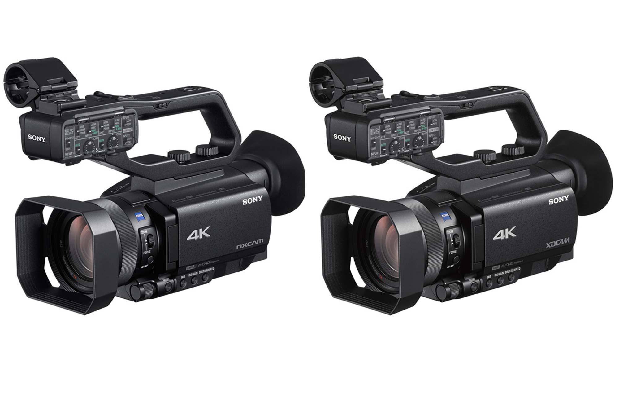 ソニー、4K HDRカムコーダー『HXR-NX80』『PXW-Z90』に、ライブ