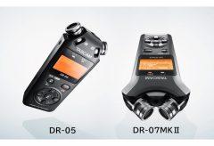 ティアック、TASCAMのリニアPCMレコーダー『DR-05 VER3』『DR-07MKⅡ VER2』を発表