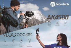 TS TRADE、FeiyuTechの最新一眼レフカメラ用ジンバル『AK4500』とスマートフォン用ジンバル『VLOG pocket』を発売