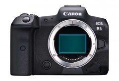 キヤノン、フルサイズミラーレスカメラ『EOS R5』の開発を発表。8K動画撮影が可能。発売は2020年中を目指す。