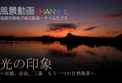 【Views】985『Healing Scenes Gallery 光の印象 〜京都、奈良、三重 もう一つの自然風景』4分4秒〜「光」を巧みに使ってみたことのない風景を創出させたイメージスケッチムービー
