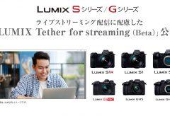 パナソニック、LUMIXがWEBカメラとして使える「 LUMIX Tether for streaming (Beta )」を公開