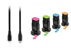 銀一、ロードマイクロフォンズのケーブルSC19とNT-USBミニ用のカラー識別クリップCOLORS 1を発売