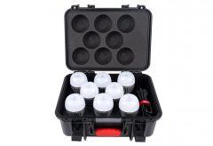 アガイ商事、AputureのLED Accent B7c8灯に充電ソケット兼用の収納ケースが付属したキットを発売