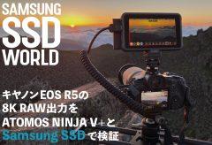 【SAMSUNG SSD WORLD】キヤノンEOS R5の8K RAW出力をATOMOS NINJA V+とSamsung SSDで検証(8K動画付き)
